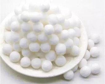 Pom Poms, white mini pom poms 9mm