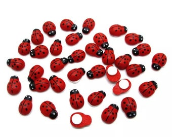 Ladybird embellishments, set of 20