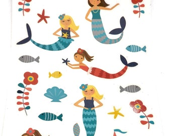 Mermaid sticker sheet : Merry mermaids