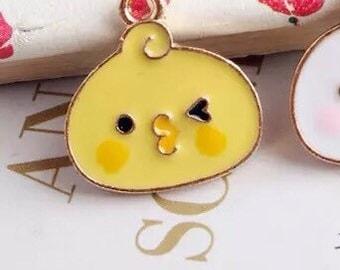 Chick enamel charms