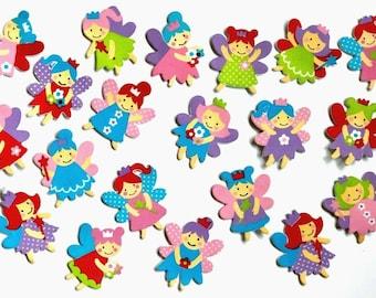 fairy foam stickers, Set of 20