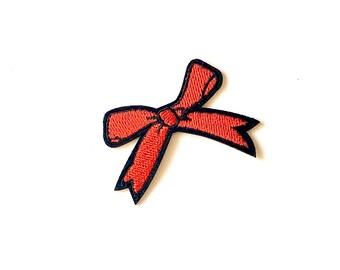 Bow design iron on patch