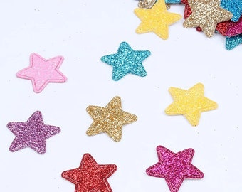 Star glitter patches, set of 10