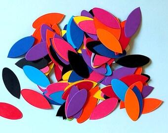 Petal shapes, card die cuts- set of 50