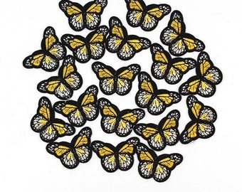 Yellow mini butterfly patches x 2