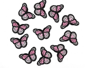 Butterfly iron on patches x 2