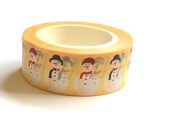 Snowman washi tape roll