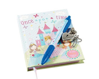 Princess lockable notebook and pen set