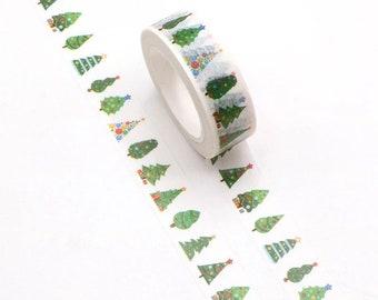 Christmas tree washi tape, decorative tree
