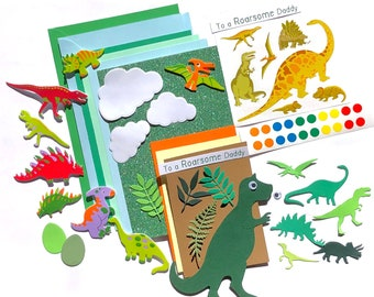 Father's day Dinosaur Card Making Kit