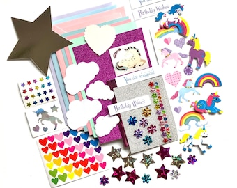 Unicorn card making kit