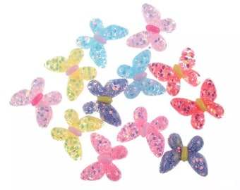Butterfly resin cabochons