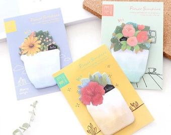 Flower sticky memo pad, sticky notes