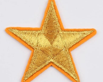 Embroidered star patch, iron on