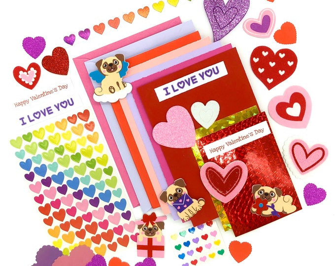Featured listing image: Valentines card making kit