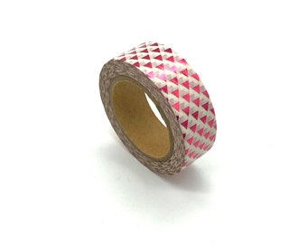 Pink triangle print washi tape, 10m