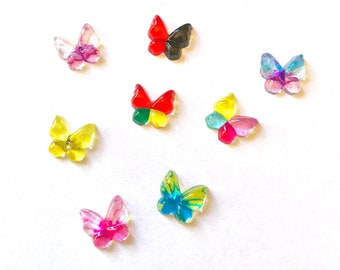 Butterfly acrylic embellishments, set of 20