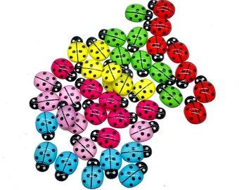 Ladybird resin cabochons, 15mm set of 20