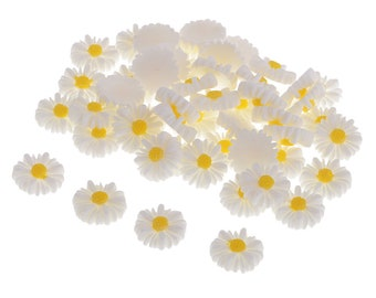 Daisy resin embellishments set of 20