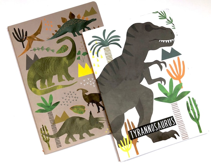 Featured listing image: Dinosaur Notebook Set