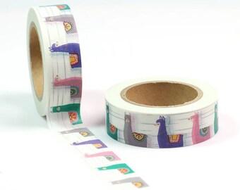 Llama Washi tape roll, 10m