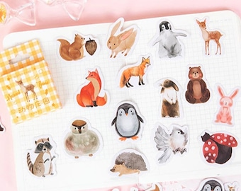 Animal stickers, box of 46