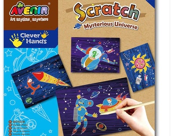 Scratch Art Kit, Space Theme