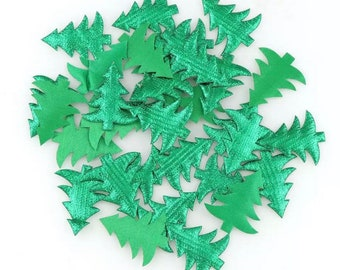 Green metallic tree embellishments