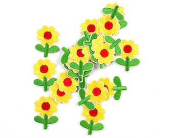 Yellow Flower iron on patch