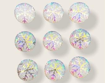 Snowflake cabochons set of 20