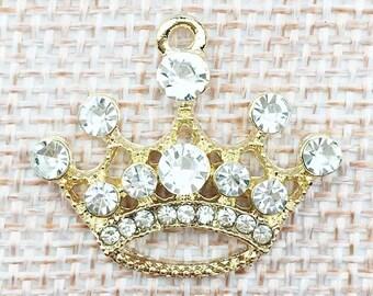 Rhinestone crown charm/pendant