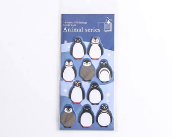 Penguin sticky notes, page markers