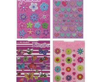 Girls Sticker Sheet Set