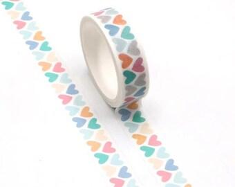 Pastel hearts washi tape