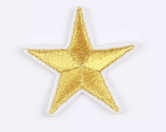 Gold star patch x 2