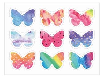 Butterfly Craft Sticker Sheet
