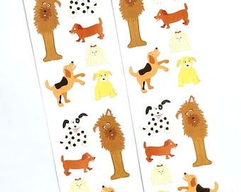 Playful Dogs craft Stickers, 2 sheets