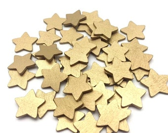 Gold wooden star embellishments