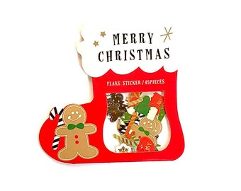 Christmas sticker flakes- Gingerbread man