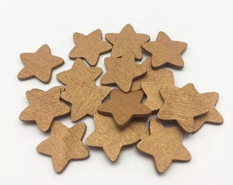 Gold wooden star embellishments