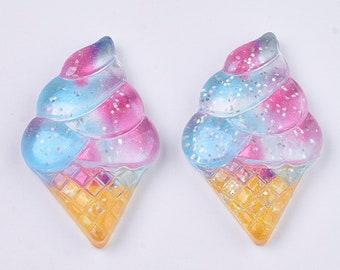 Ice cream resin embellishments, 34mm