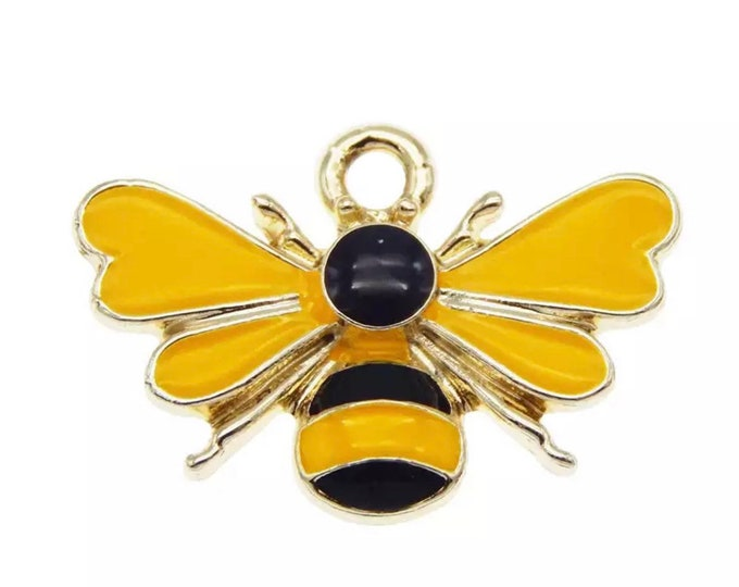 Featured listing image: Bee charms 23mm