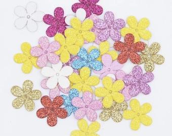 Flower glitter shapes