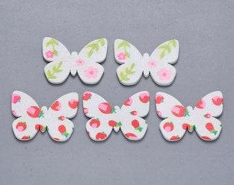 patterned wooden butterfly  embellishments