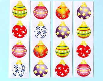 Christmas bauble stickers