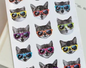 Cat sticker sheet x 2