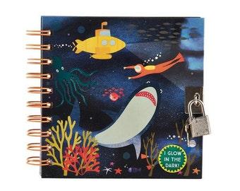Deep Sea glow in the dark locking notebook