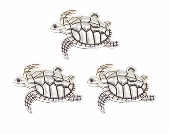 Turtle charms, set of 5