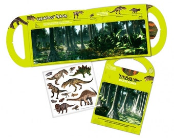 Natural History Museum Dinosaur Sticker Scene