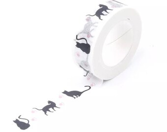 Cat Washi tape roll, 10m